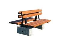 Parková lavička - betón-drevo MM800287
