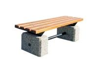 Parková lavička - betón-drevo MM800288