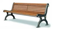 Parková lavička - hliník-drevo MM700232