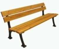 Parková lavička - liatina-drevo MM700212