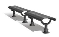 Parková lavička - oceľ MM332616