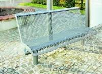 Parková lavička - oceľ MM700223