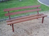 Parková lavička - oceľ-drevo MM700114