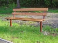 Parková lavička - oceľ-drevo MM700115