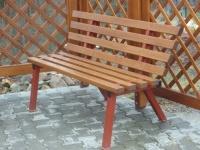 Parková lavička - oceľ-drevo MM700116