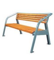 Parková lavička - oceľ-drevo MM700187