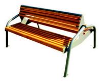 Parková lavička - oceľ-drevo MM700188