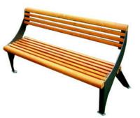 Parková lavička - oceľ-drevo MM700189