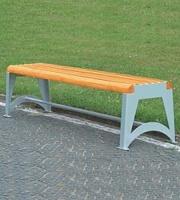 Parková lavička - oceľ-drevo MM700191