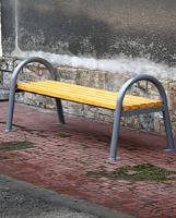 Parková lavička - oceľ-drevo MM700193