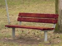 Parková lavička - oceľ-drevo MM700206