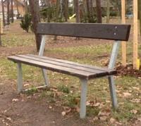 Parková lavička - oceľ-drevo MM700207