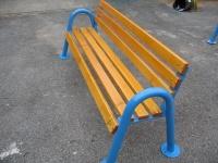 Parková lavička - oceľ-drevo MM700290
