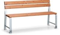 Parková lavička - oceľ-drevo MM700409
