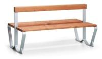 Parková lavička - oceľ-drevo MM700410