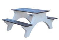 Piknikový stôl - betón-drevo MM801051