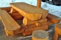 Piknikový stôl - drevo MM700242