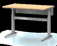 Dielenský stôl s nastaviteľnou výškou, šírka 1200 mm, zadný krycí plech