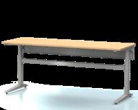 Dielenský stôl s nastaviteľnou výškou, šírka 2000 mm, zadný krycí plech