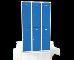 Šatní boxy - dvouplášťové dveře A2M 35 3 2 A
