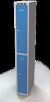 Šatníková skrinka Aldop delená - dvojplášťové dvere, šírka / počet oddelenia: 250 mm / 1
