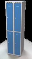 Šatníková skrinka Aldop delená - dvojplášťové dvere, šírka / počet oddelenia: 250 mm / 2
