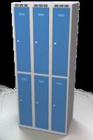 Šatníková skrinka Aldop delená - dvojplášťové dvere, šírka / počet oddelenia: 250 mm / 3