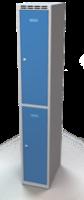 Šatníková skrinka Aldop delená - dvojplášťové dvere, šírka / počet oddelenia: 300 mm / 1