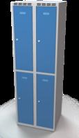 Šatníková skrinka Aldop delená - dvojplášťové dvere, šírka / počet oddelenia: 300 mm / 2