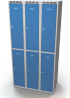 Šatníková skrinka Aldop delená - dvojplášťové dvere, šírka / počet oddelenia: 300 mm / 3
