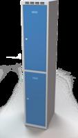 Šatníková skrinka Aldop delená - dvojplášťové dvere, šírka / počet oddelenia: 350 mm / 1