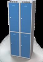 Šatníková skrinka Aldop delená - dvojplášťové dvere, šírka / počet oddelenia: 350 mm / 2