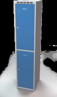 Šatníková skrinka Aldop delená - dvojplášťové dvere, šírka / počet oddelenia: 400 / 1