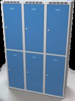 Šatníková skrinka Aldop delená - dvojplášťové dvere, šírka / počet oddelenia: 400 mm / 3