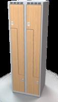 Šatňové skrinky - dvere tvaru Z, lamino AM 30 2 Z S DD