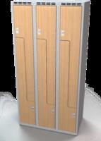 Šatňové skrinky - dvere tvaru Z, lamino AM 30 3 Z S DD