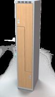 Šatňové skrinky - dvere tvaru Z, lamino AM 35 1 Z S DD