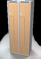 Šatňové skrinky - dvere tvaru Z, lamino AM 35 2 Z S DD