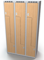 Šatňové skrinky - dvere tvaru Z, lamino AM 35 3 Z S DD