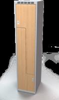 Šatňové skrinky - dvere tvaru Z, lamino AM 40 1 Z S DD
