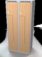 Šatňové skrinky - dvere tvaru Z, lamino AM 40 2 Z S DD