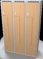 Šatňové skrinky - dvere tvaru Z, lamino AM 40 3 Z S DD