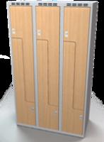 Šatní skříňky - dveře tvaru Z, lamino D3M 35 3 Z S