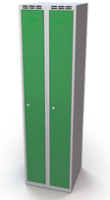 Šatňové skrinky - dvouplášťové dvere A1M 25 2 1 S