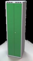 Šatňové skrinky - dvouplášťové dvere A1M 25 2 K S