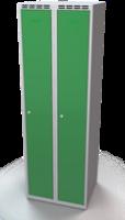 Šatňové skrinky - dvouplášťové dvere A1M 30 2 1 S