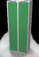 Šatňové skrinky - dvouplášťové dvere A1M 35 2 1 S