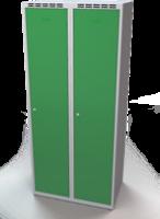 Šatňové skrinky - dvouplášťové dvere A1M 40 2 1 S