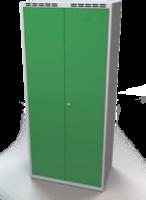 Šatňové skrinky - dvouplášťové dvere A1M 40 2 K S