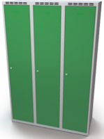 Šatňové skrinky - dvouplášťové dvere A1M 40 3 1 S